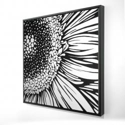 Framed 24 x 24 - 3D - Gerbera flower