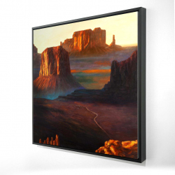Framed 24 x 24 - 3D - Monument valley tribal park in arizona