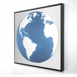 Framed 24 x 24 - 3D - The earth