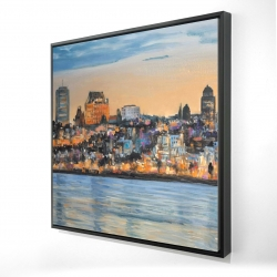 Framed 24 x 24 - 3D - Skyline of quebec city