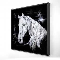 Framed 24 x 24 - 3D - Abstract horse profile view