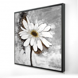 Framed 24 x 24 - 3D - Abstract daisy