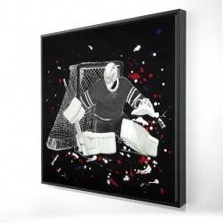 Framed 24 x 24 - 3D - Goalkeeper hockey goal