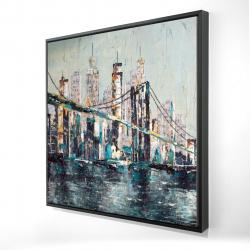 Encadré 24 x 24 - 3D - Pont abstrait et texturé