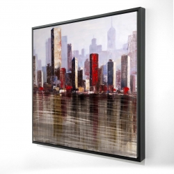 Framed 24 x 24 - 3D - Industrial city