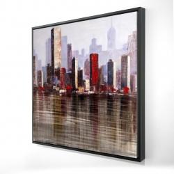 Framed 24 x 24 - 3D - Industrial city style