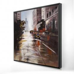 Framed 24 x 24 - 3D - Morning street scene
