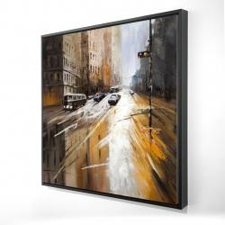 Framed 24 x 24 - 3D - Abstract city street