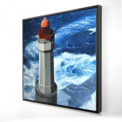 Framed 24 x 24 - 3D - The headlight of jument