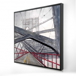 Framed 24 x 24 - 3D - Under the brooklyn bridge