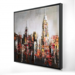 Framed 24 x 24 - 3D - Paint splash city