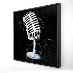 Framed 24 x 24 - 3D - Microphone