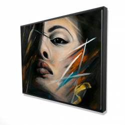 Framed 36 x 48 - 3D - Abstract woman portrait
