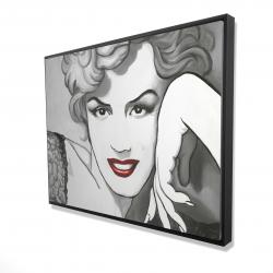 Framed 36 x 48 - 3D - Vintage style marilyn monroe