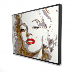 Framed 36 x 48 - 3D - Marilyn monroe with typography