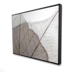 Framed 36 x 48 - 3D - Translucent dried leaves