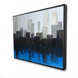 Framed 36 x 48 - 3D - Blue city