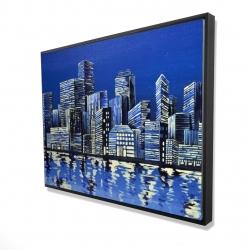 Framed 36 x 48 - 3D - City in blue