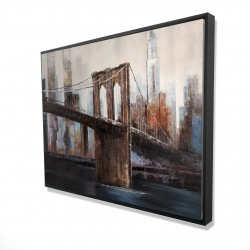 Framed 36 x 48 - 3D - Urban brooklyn bridge