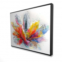 Framed 36 x 48 - 3D - Abstract flower with texture