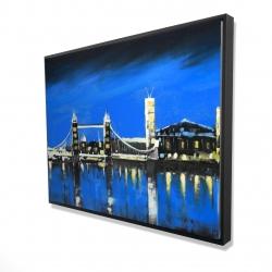 Framed 36 x 48 - 3D - Blue skyline of london