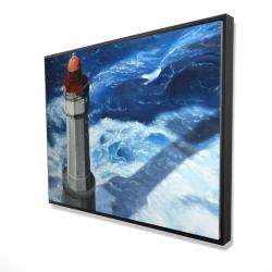 Framed 36 x 48 - 3D - The headlight of jument
