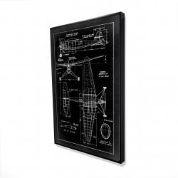 Encadré 36 x 48 - 3D - Schéma d'avion