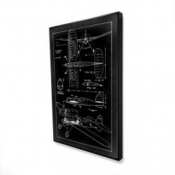 Framed 36 x 48 - 3D - Plane plan