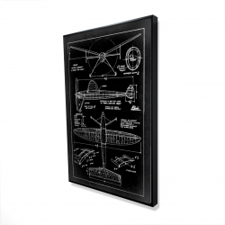Framed 36 x 48 - 3D - Airplane construction plan