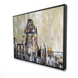 Framed 36 x 48 - 3D - Abstract château frontenac