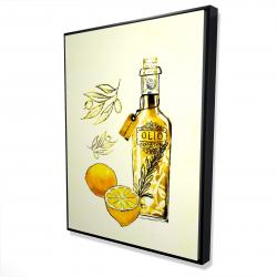 Framed 36 x 48 - 3D - Olive oil and lemons