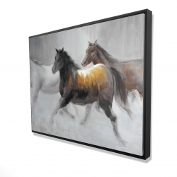 Framed 36 x 48 - 3D - Herd of wild horses