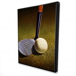 Framed 36 x 48 - 3D - Closeup of a golf club