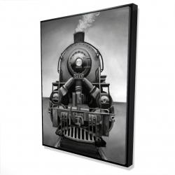 Framed 36 x 48 - 3D - Black and white train