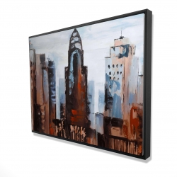 Framed 36 x 48 - 3D - Sullen day in the city