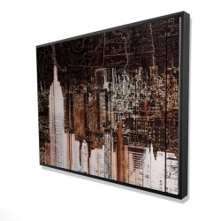 Framed 36 x 48 - 3D - The empire city of newyork
