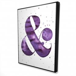 Framed 36 x 48 - 3D - Ampersand purple