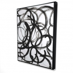 Framed 36 x 48 - 3D - Abstract curly lines