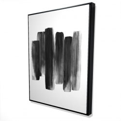 Framed 36 x 48 - 3D - Black shapes