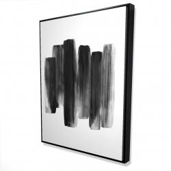 Framed 36 x 48 - 3D - Black shapes