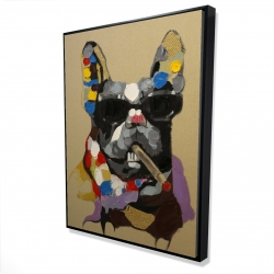 Framed 36 x 48 - 3D - Abstract smoking dog