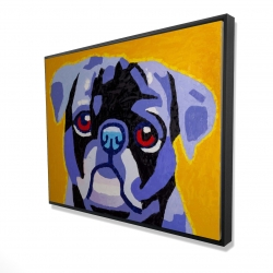 Framed 36 x 48 - 3D - Flash the pug