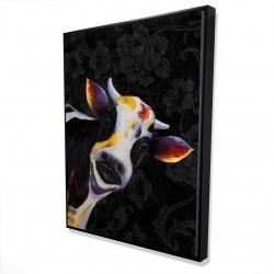 Framed 36 x 48 - 3D - Funny cow