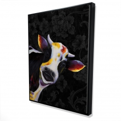 Framed 36 x 48 - 3D - Funny cow