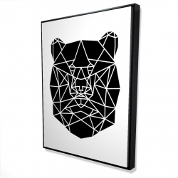 Framed 36 x 48 - 3D - Geometric bear head