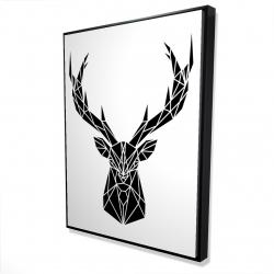 Framed 36 x 48 - 3D - Geometric deer head