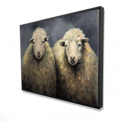 Framed 36 x 48 - 3D - Wool sheeps
