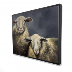 Framed 36 x 48 - 3D - Two sheeps