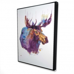 Framed 36 x 48 - 3D - Abstract moose