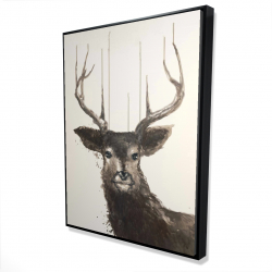 Framed 36 x 48 - 3D - Abstract deer